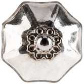 Antique Silver Mercury Scallop Knob